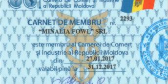 Lista membrilor Camerei de Comert si Industrie Filiala Cahul
